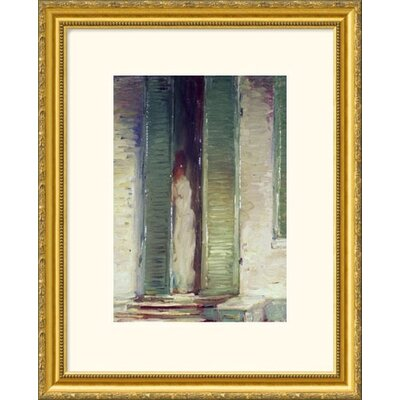Great American Picture Woman in Doorway Gold Framed Print - John Singer Sargent