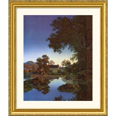 Great American Picture Evening Shadows Gold Framed Print - Maxfield Parrish