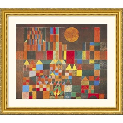 Castle and Sun Gold Framed Print - Paul Klee