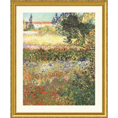 Great American Picture Flowering Garden Gold Framed Print - Vincent van Gogh