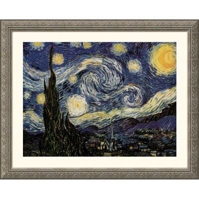 The Starry Night Silver Framed Print - Vincent van Gogh