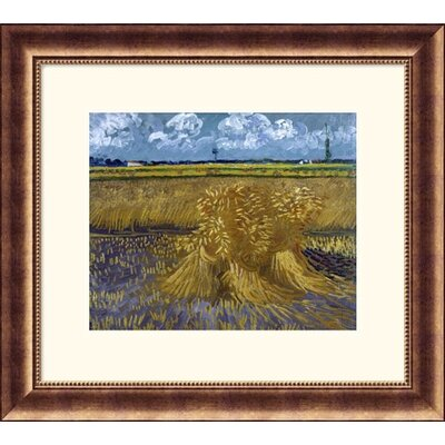 Great American Picture Wheat Field with Sheaves Bronze Framed Print  - Vincent van Gogh