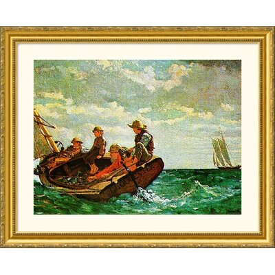 Great American Picture Breezing Up Gold Framed Print - Winslow Homer