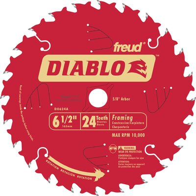 "Freud 6-1/2"" 24T Diablo™ Circular Saw Framing Blade"