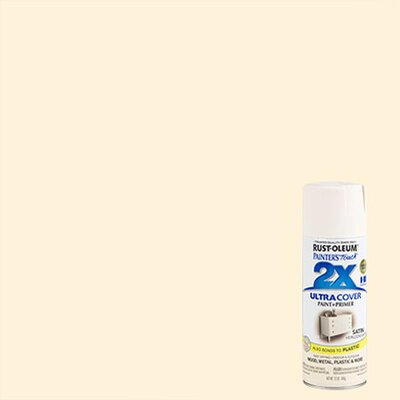 Painter's Touch® 2X™ 12 Oz Heirloom White Cover Spray Paint Satin