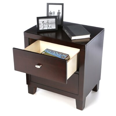 Wildon Home ® Kingman Deep 2 Drawer Nightstand
