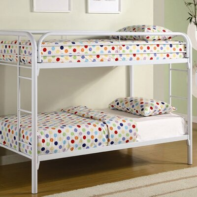 Wildon Home ® Fields Twin over Twin Bunk Bed with Built-In Ladder