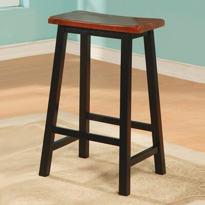 "Wildon Home ® Aloha 29"" Stool in Oak and Black"