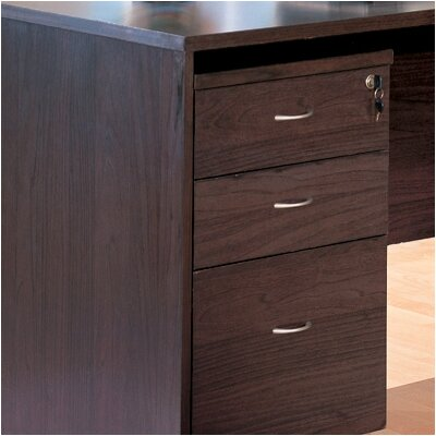 "Wildon Home ® Redondo Beach 27"" File Cabinet in Cappuccino"
