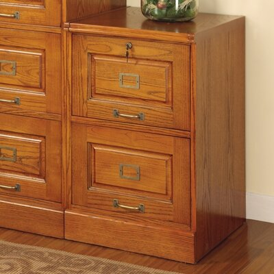 Wildon Home ® Paulina Two Drawer File in Oak