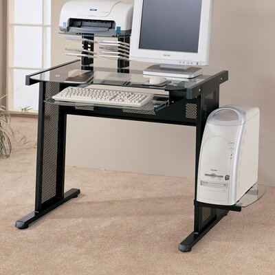 Wildon Home ® Pratum Glass Computer Desk