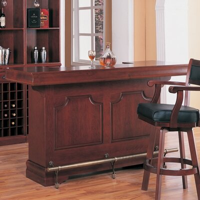 Wildon Home ® Tiernan Bar Table with Footrest in Cherry