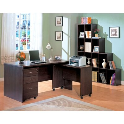 Wildon Home ® Redondo Beach L-Shape Desk Office Suite