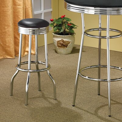 "Wildon Home ® Ridgeway 29"" Soda Fountain Bar Stool in Chrome"