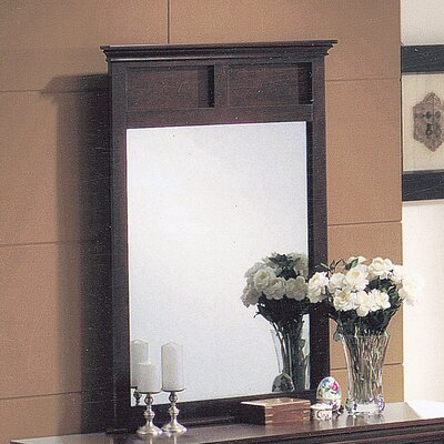 Wildon Home ® Contemporary Mirror in Dark Cherry