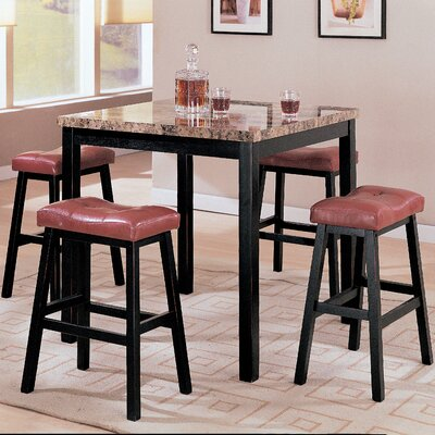 Wildon Home ® 5 Piece Counter Height Dining Set