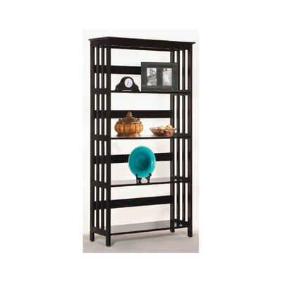 Wildon Home ® Four Tier Bookshelf in Espresso