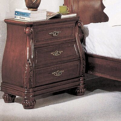 Wildon Home ® Sierra 3 Drawer Nightstand