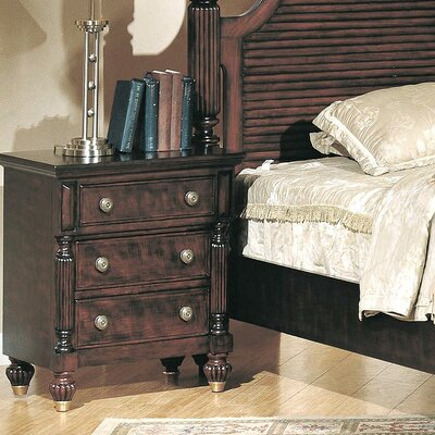 Wildon Home ® Edinburgh 3 Drawer Nightstand