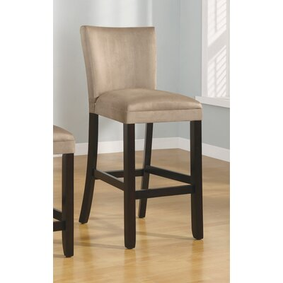 "Wildon Home ® Bullhead City 29"" Microfiber Barstool in Taupe"