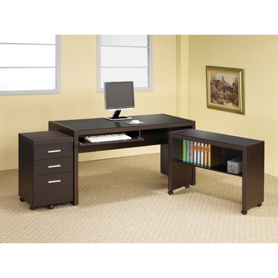 Wildon Home ® Bicknell Computer Cart in Dark Cappuccino
