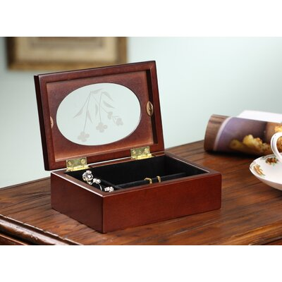 Wildon Home ® Jade Mini Jewelry Box in Coffee Brown