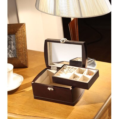 Wildon Home ® Treasure Chest Dual Layer Jewelry Box