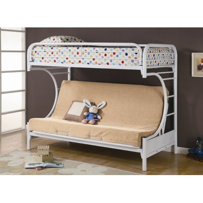 Wildon Home ® Fall Creek Twin over Futon Bunk Bed with Built-In Ladder