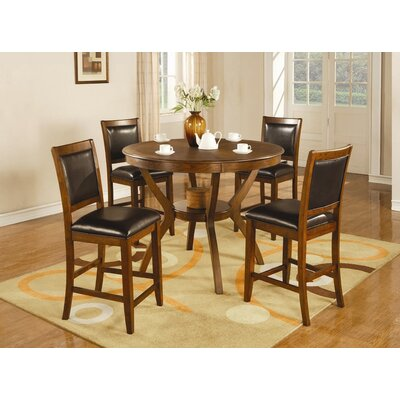 Wildon Home ® Swanville 5 Piece Counter Height Dining Set