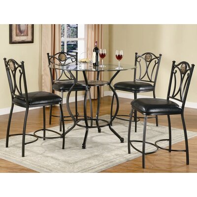 "Wildon Home ® Starks 24"" Counter Height Chair in Black"