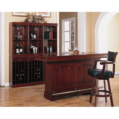 Wildon Home Buffalo Gap Wall Bar Unit In Cherry