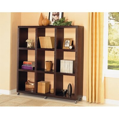 "Wildon Home ® Sams Valley 69.25"" Bookshelf in Cappuccino"