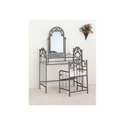 Wildon Home ® Cave Creek Vanity Set with Stool in Nickel Bronze