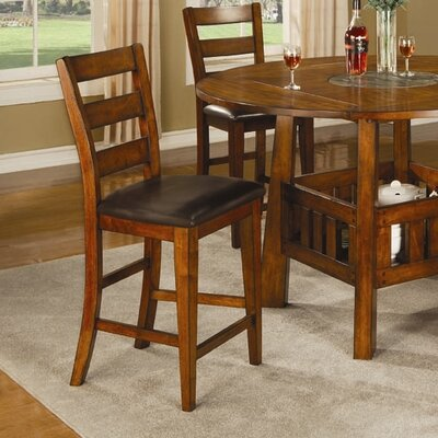 "Wildon Home ® Kennebunkport 24"" Barstool in Dark Oak"