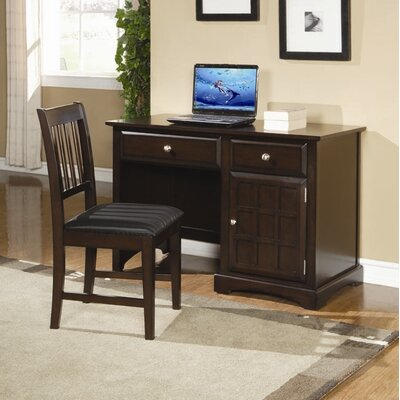 Wildon Home ® Harrington Computer Desk in Dark Brown Cappuccino