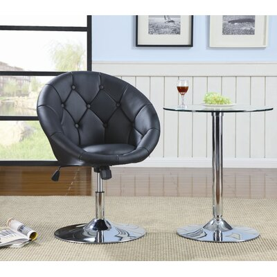 Wildon Home ® Hebron Swivel Chair in Black