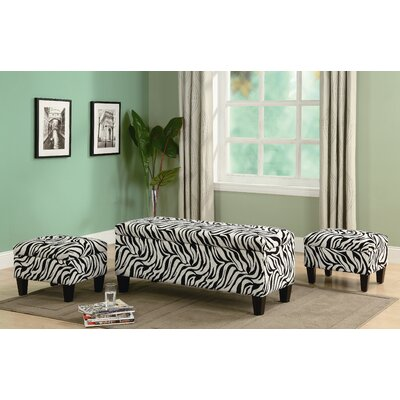 Wildon Home ® Oak Valley Upholstered Storage Bench and Ottoman Set