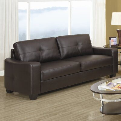 Wildon Home ® Oakwood Leather Sofa
