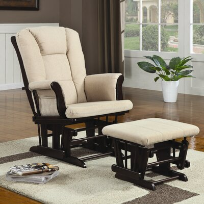 Wildon Home ® Poth Microfiber Glider and Ottoman