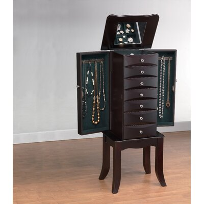 Wildon Home ® Teresa Jewelry Armoire in Java