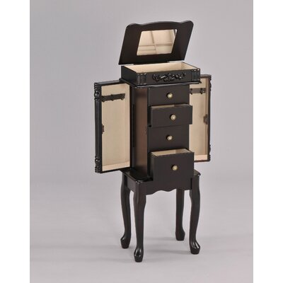 Wildon Home ® Tiana Jewelry Armoire in Espresso