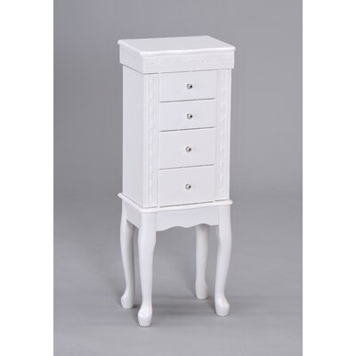 Wildon Home ® Didi Jewelry Armoire in White