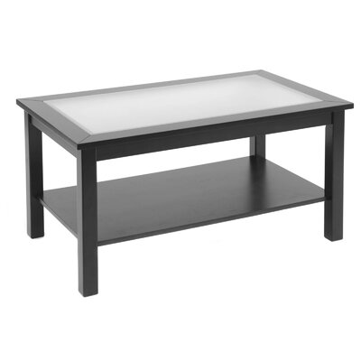 Wildon Home ® Bay Shore Coffee Table with Glass Top