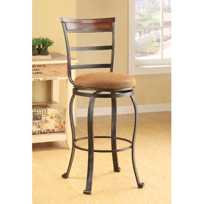 Wildon Home ® Tavio Ladder Back Swivel Barstool