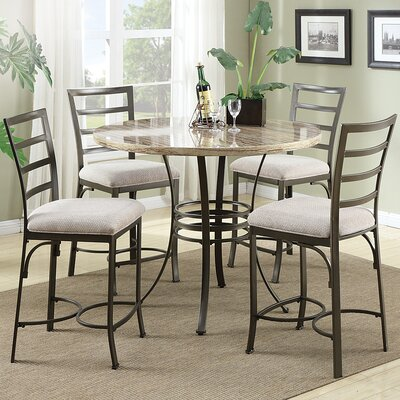 Wildon Home ® Val 5 Piece Counter Height Dining Set