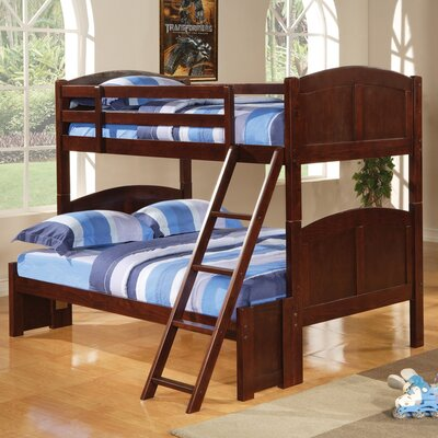 Donco Kids Twin Over Full Bunk Bed With Built In Ladder I