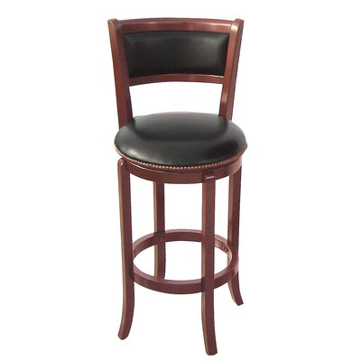 Wildon Home ® Vinyl Swivel Bar Stool