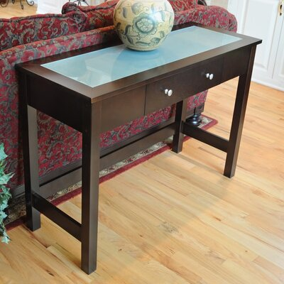 Bay Shore Console Table with Glass Top
