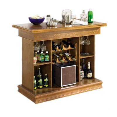 Wildon Home ® Foxton Bar/Game Table in Oak