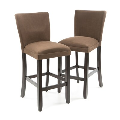 Bullhead City Microfiber Barstool in Chocolate